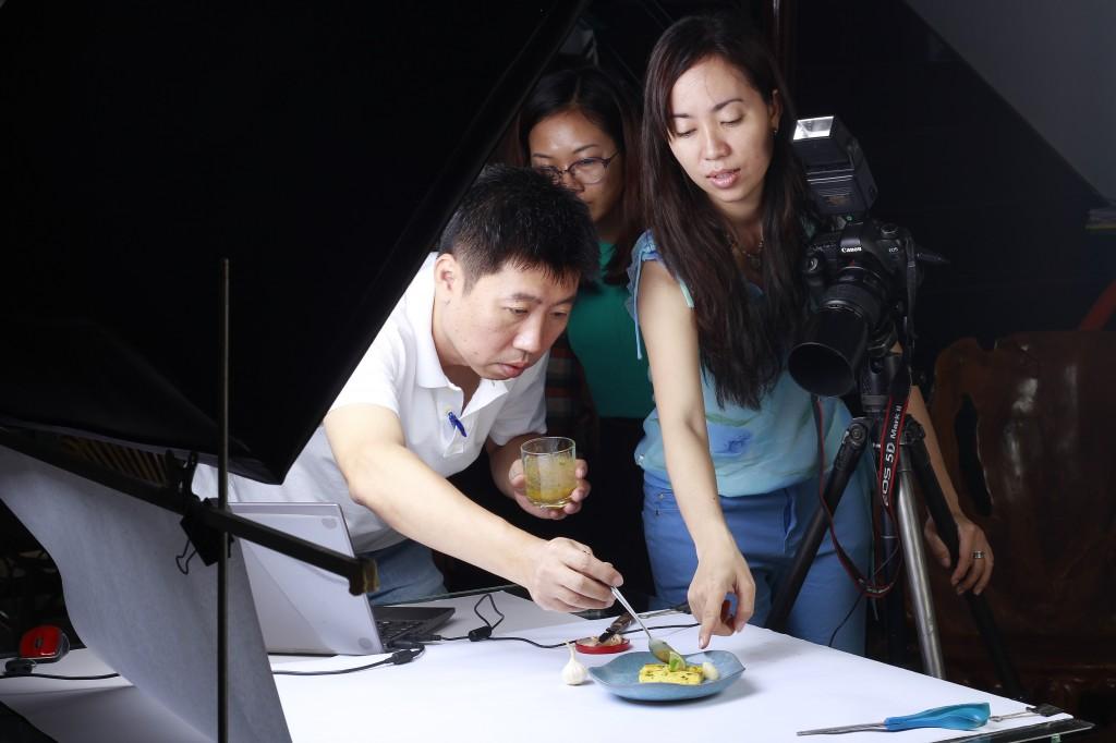 chụp hình quảng cáo món ăn