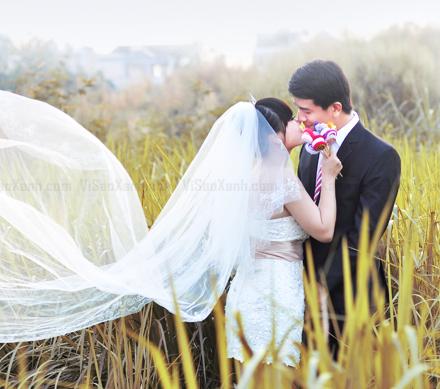 Hình cưới Vi Sao Xanh
