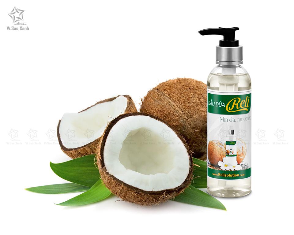 Chụp sản phẩm dầu dừa