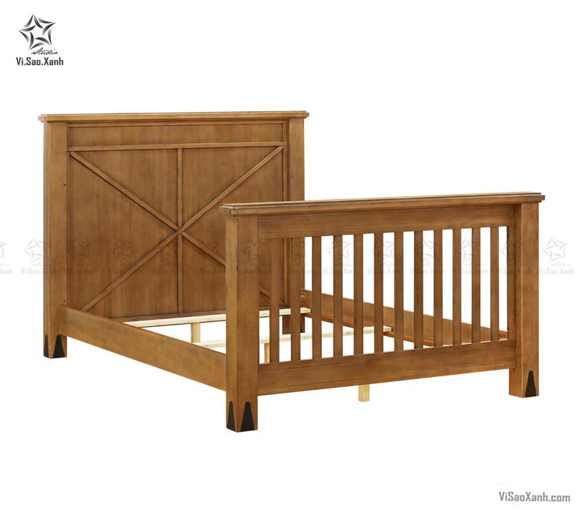 Chụp ảnh giường gỗ